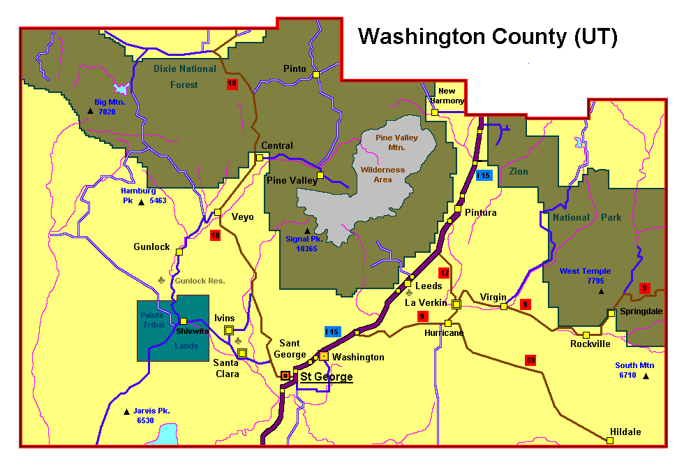 Washington County Tax Map St. George Property Tax Rates